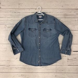 Levi's Denim Shirt - Light Washed - Men's XL